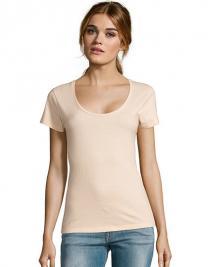 Women´s Low-Cut Round Neck T-Shirt Metropolitan